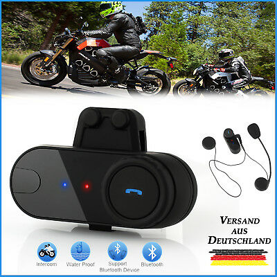 Motorrad Bluetooth Gegensprechanlage FM 800m Helm Sprechanlage Intercom Headset