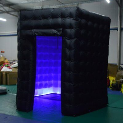 2.5*2.5*2.5m Hexagon Air Photo Booth Inflatable RGB LED Photo Booth Tent PN