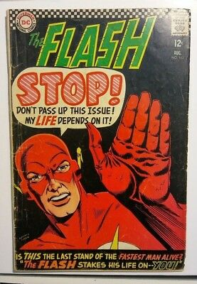FLASH #163 - Silver Age DC Comics 1966 - GD