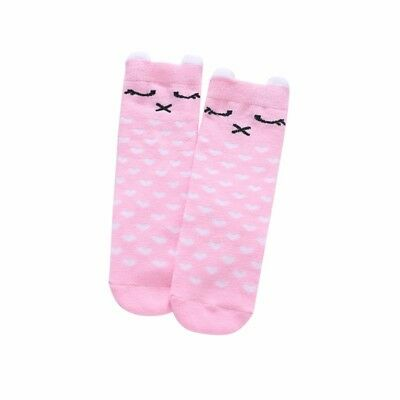 Infant Baby Kids Girls Non-slip Ankle Socks Knee High Toddler Ruffle Socken Pink