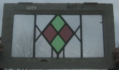 A419         exceptional Stained Glass window . Ca 1930