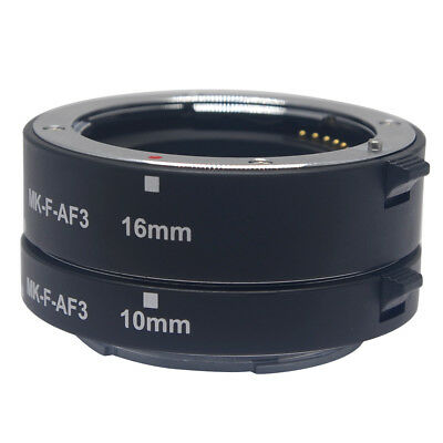 Meike Macro Extension Tube Metal Auto Focus AF Adapter 10mm 16mm for Fujifilm
