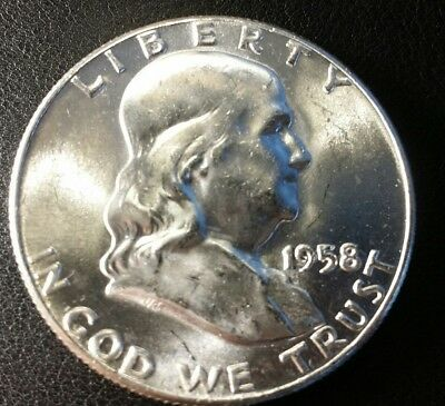 1958-P Franklin Half Dollar Silver GEM BU Uncirculated A-2
