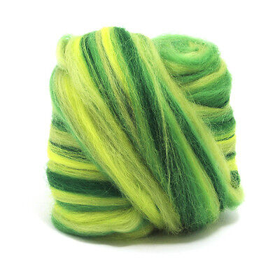 50g DYED MERINO WOOL BLEND CALM DREADS 64's SPINNING FELTING ROVING