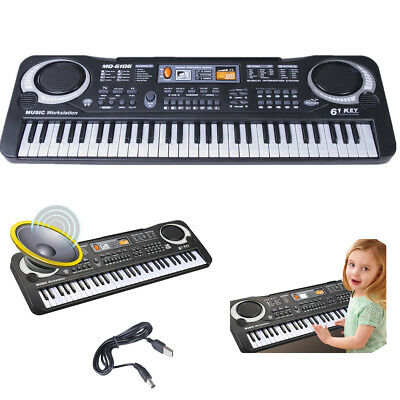 61 Keys Electric Organ Digital Music Keyboard LED Piano Set With Microphone Gift