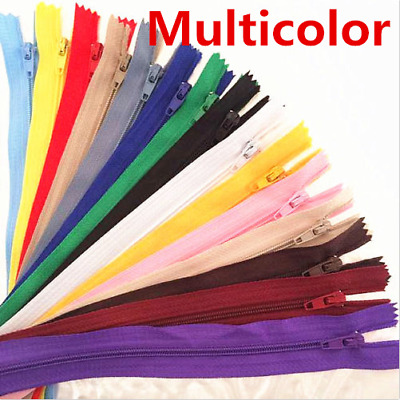 10-100pcs Nylon Coil Zippers Tailor Sewer Craft 18cm (7 Inch) Crafter's &FGDQRS