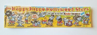Kinder Die Happy Hippo Hollywood Stars Cartina