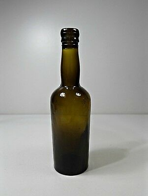 ANTIQUE BLACK SMALL GLASS WINE BOTTLE 1910´s