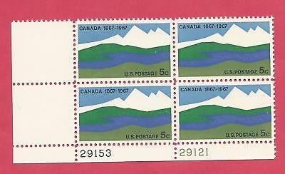 U.s. Scott 1324 Canada (1867-1967) Wholesale Lot (5) Mnh Plate Blocks 1967 F-Vf