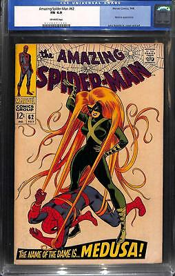 Amazing Spider-Man #62 CGC 6.0 Off White Pages