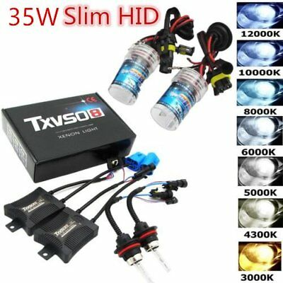 HID Xenon Bulbs Headlight Slim Ballast Conversion Kit H1/3/4 H7 9005 9006 UN