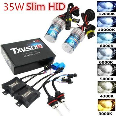 HID Xenon Bulbs Headlight Slim Ballast Conversion Kit H1/3/4 H7 9005 9006 SD