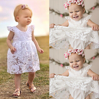 Newborn Baby Girl Lace Romper Jumpsuit Bodysuit Dress Outfits Clothes Summer USA