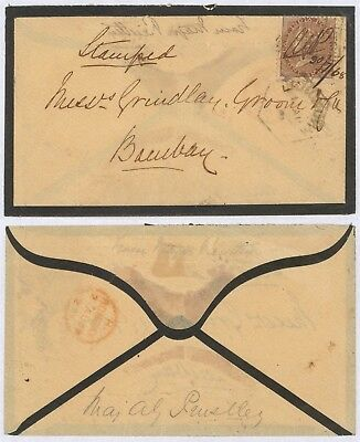 India 1868 - Mourning cover to Bombay 30711