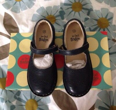 Mini Boden Girl's Navy Blue Leather Mary Janes Size EU 33 UK 1
