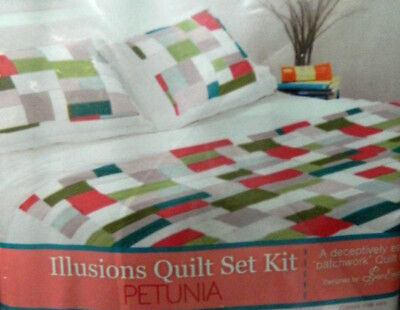 Country Quilting Cheaters Quilt Fabric Panel for Beginners Queen Size Petunia