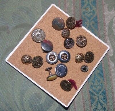 Job Lot  Vintage Buttons Metal Silver and Gold Colour  Goth Steampunk