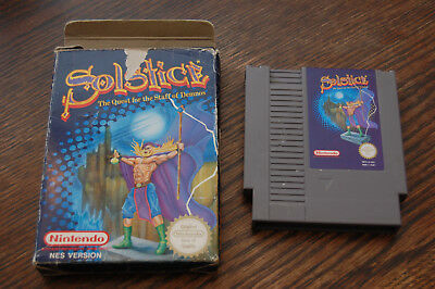 UK VERSION: Solstice NES Nintendo Game in Box UKV PAL-A