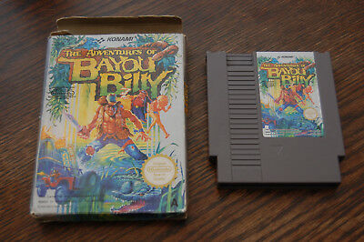 UK VERSION: Adventures of Bayou Billy NES Nintendo Game in Box UKV PAL-A