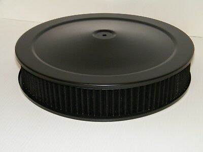 """14"""" x 3"""" Black Washable Re-Usable Air Filter Cleaner Assembly Powder Coated"""