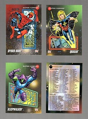 1992 SKYBOX Marvel Universe III COMPLETE BASE SET OF 200 CARDS IN MINT COND.