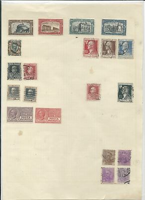 Trade Price Stamps Page Of Early Italy Stamps Mint And Used