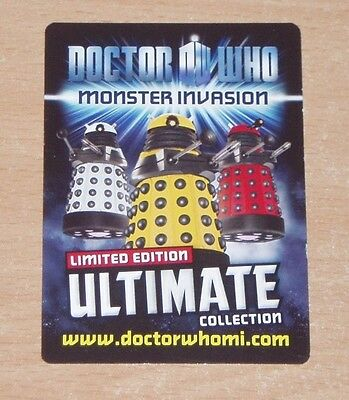 Doctor Who Monster Invasion Ultimate Trading cards