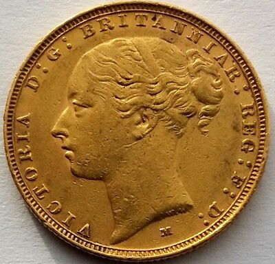 1884 Victoria Young Head Gold Sovereign (Melbourne Mint)