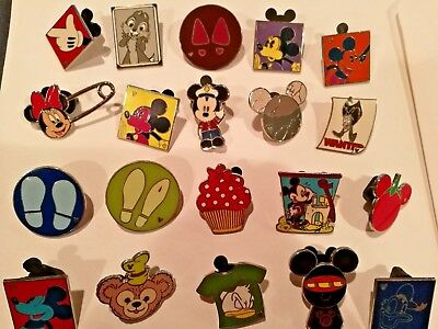 Disney Pin Trading Lot of 20 Assorted Pins -No Doubles - Tradable - Actual Pins!