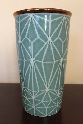 Starbucks Holiday 2017 Green Diamond Double-Walled Ceramic Tumbler, 12 Fl Oz