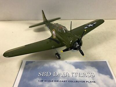 Franklin Mint Armour SBD Dauntless 1/48 Scale Plane Collection Diecast