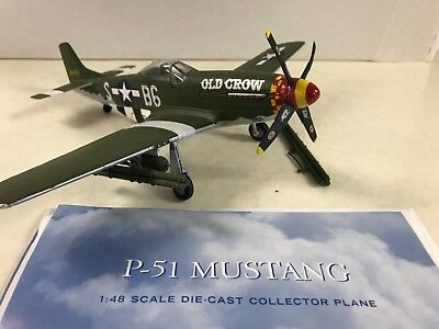 Franklin Mint Armour P-51 Mustang Old Crow 1/48 Scale Plane Collection Diecast
