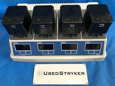Stryker 7110-120 Universal battery charger with (4) 7215 System 7 Batteries