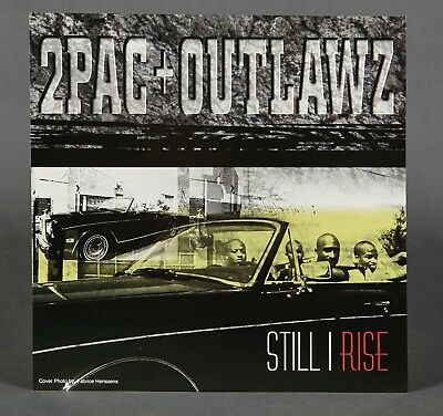 2Pac + Outlawz - Still I Rise TUPAC SHAKUR PROMOTIONAL 2 SIDED POSTER FLAT 12X12