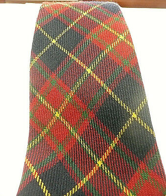 Rare, ERMENEGILDO ZEGNA Scottish Tartan Wool Tie. Made in Italy. Narrow