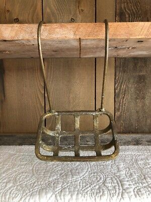 Antique Victorian Claw Foot Tub BRASS SOAP HOLDER Bathtub Basket Wire Vintage