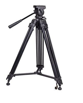 Professional Video Tripod 65mm Bowl 62 Inches Height W/ 2 Quick Release Plates