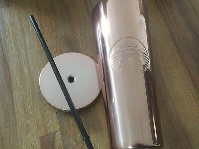 Starbucks Shine Copper Rose Stainless Steel Rose Gold Pink Cold Cup 24 oz Venti