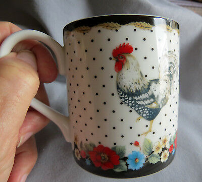 Vera Bradley, Andrea by Sadek, My Home ROOSTER Collectible Coffee Mug See Pics!