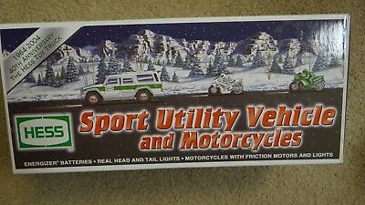 Hess 40Th Anniversary Sport Utility Vehicle And Motorcycles 2004- New In The Box