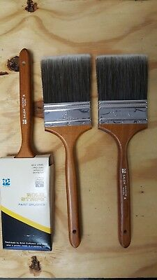 "NEW 3"" PPG Paint Brush, PPG P3010 Mark V Salem Gold Stripe PolyNylon, Lot of 6"