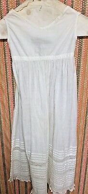 Antique Ivory Cotton Baby Christening Gown/