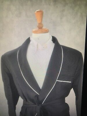 Mens Wrap Smoking Jacket