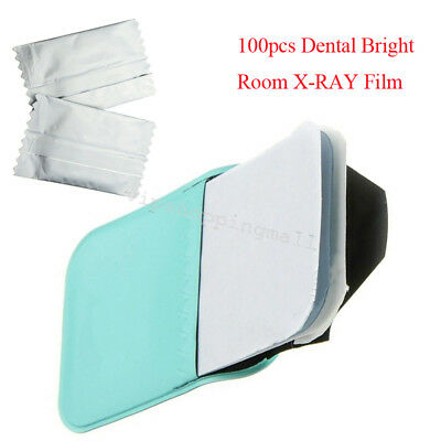 100pcs Dental Bright Room X-RAY Film Size 2 For Reader Scanner Machine Clinic CE
