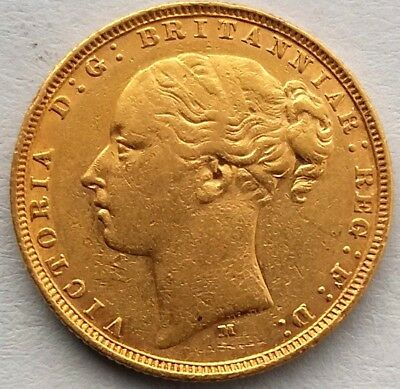 1882 Gold Sovereign Victoria Young Head (Melbourne Mint)