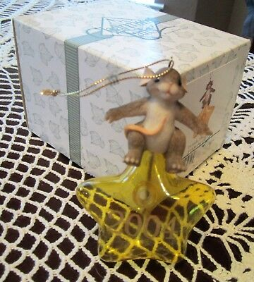 Charming Tails TWINKLE, TWINKLE Fitz & Floyd NIB 86/131 2004 Ornament Mouse Star