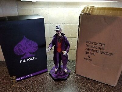 Sideshow Exclusive Joker 1/6 Sixth Scale Figure w/ Custom Stand Free Shipping!