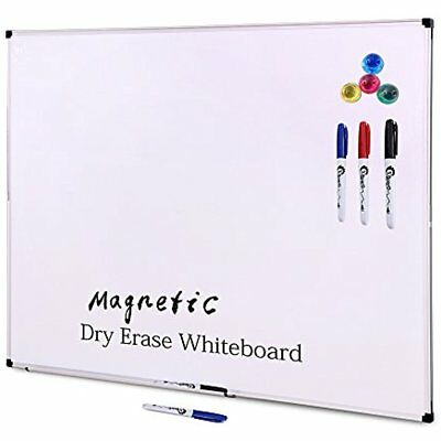 48 X 36 Inch Large Magnetic Dry Erase Boards Set, Aluminum Frame Wall Mounted &