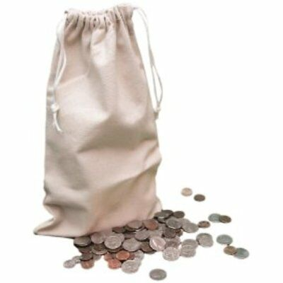 """Flat Bottom Heavy Duty Coin Bag, 25 Pack, 19"""" X 24"""", Off White (LAFDDS25)"""