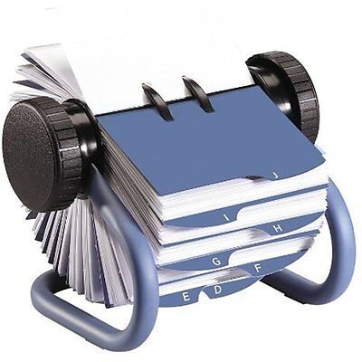 Open Rotary Business Card File With 200 2-5/8 By 4 Inch Sleeves And 24 Guides,